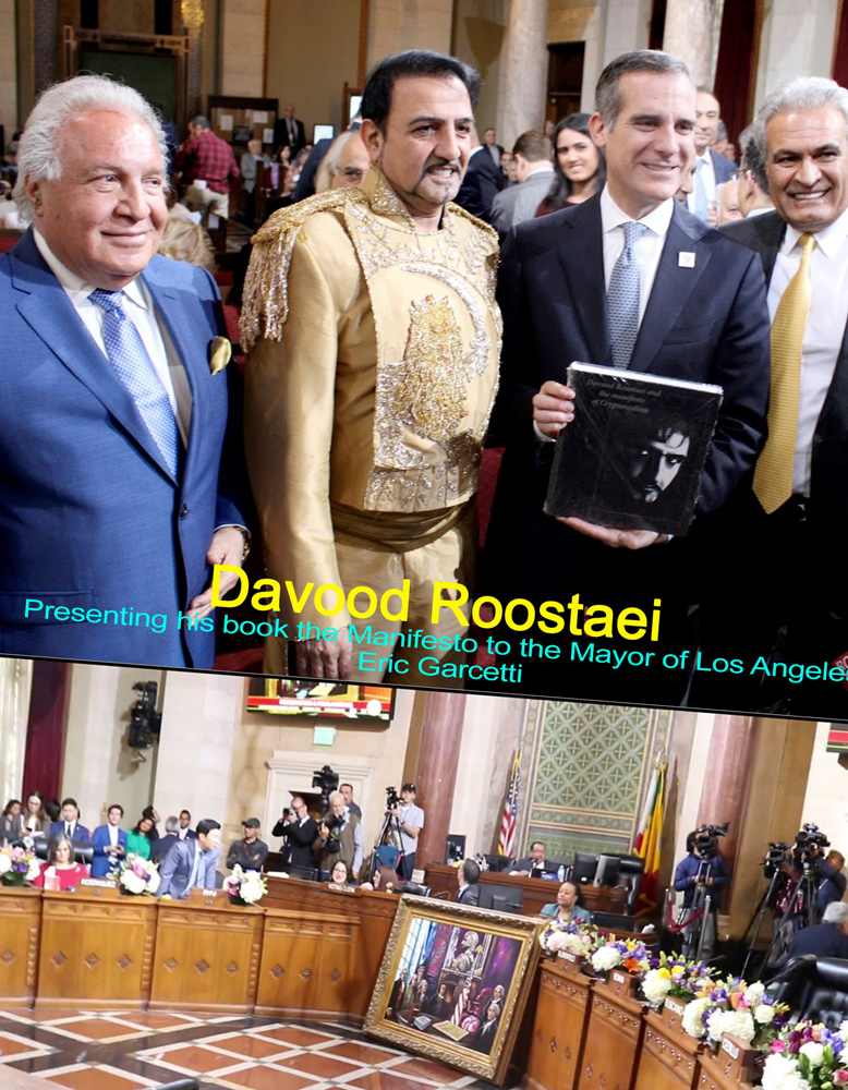 Cyrus the great painting presented to City Hall Los angeles